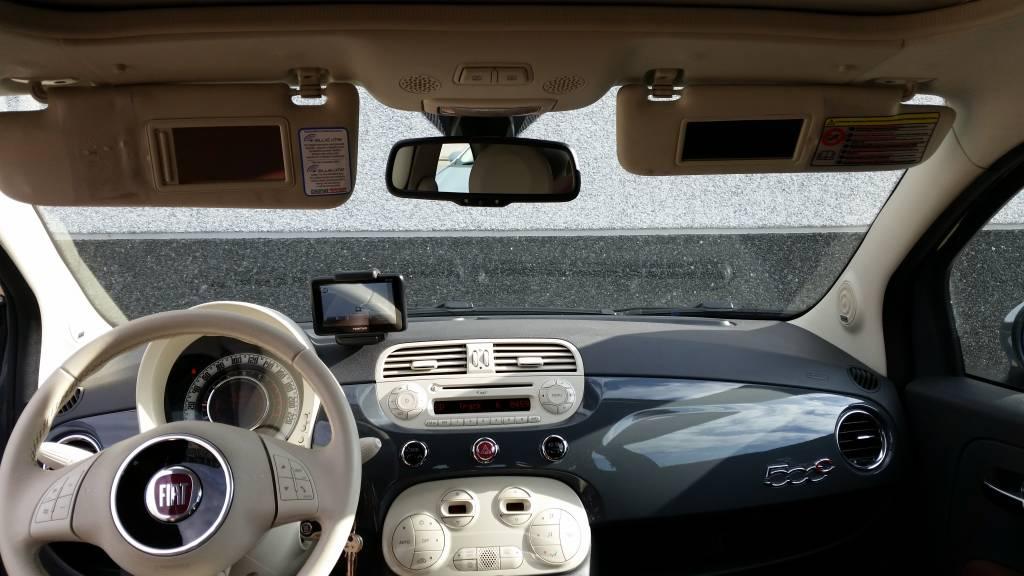 fiat 500 cabrio 2011 antraciet grijs met congnacbeige lederen interieur